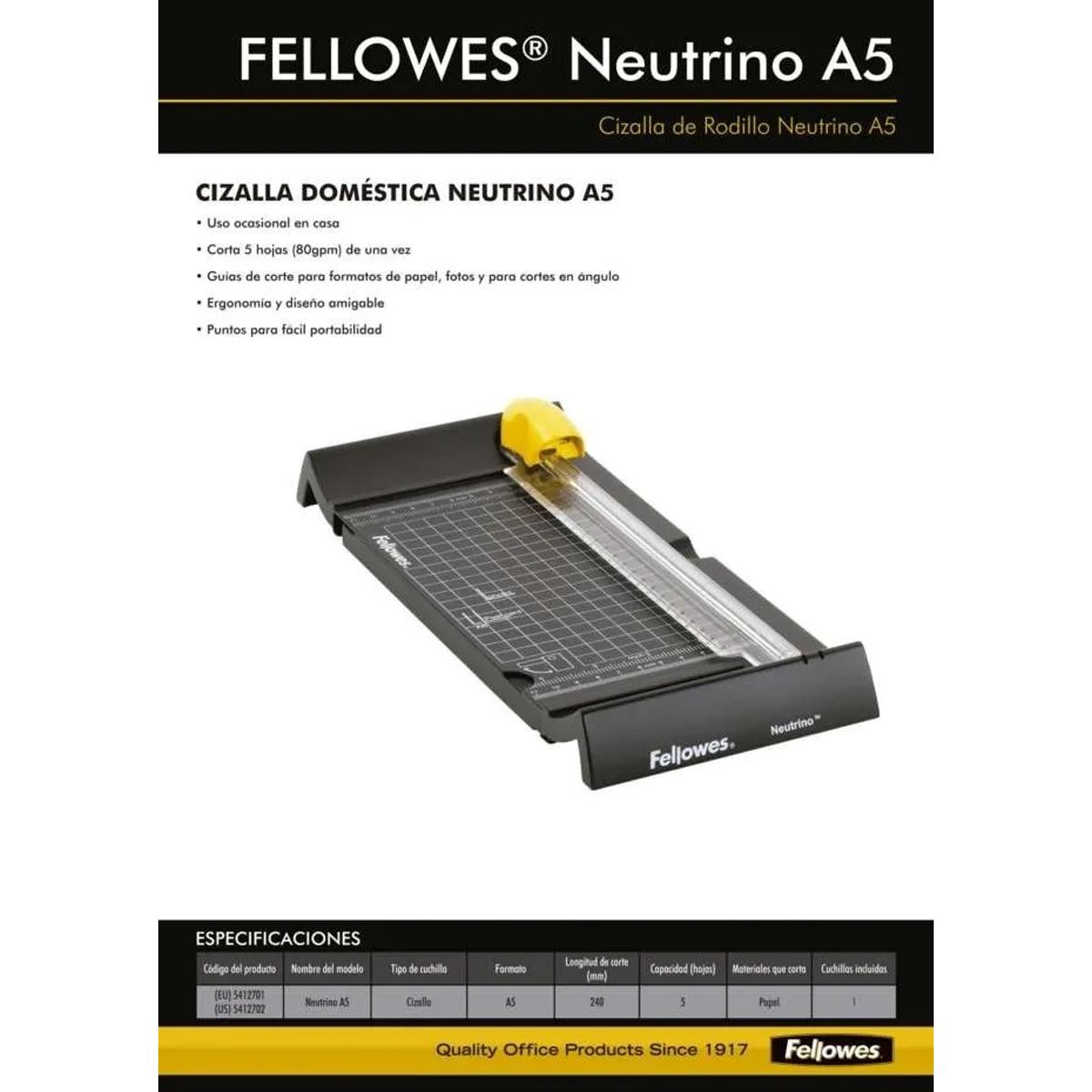 54127 FELLOWES                                                     | GUILLOTINA FELLOWES CIZALLA NEUTRINO A5
