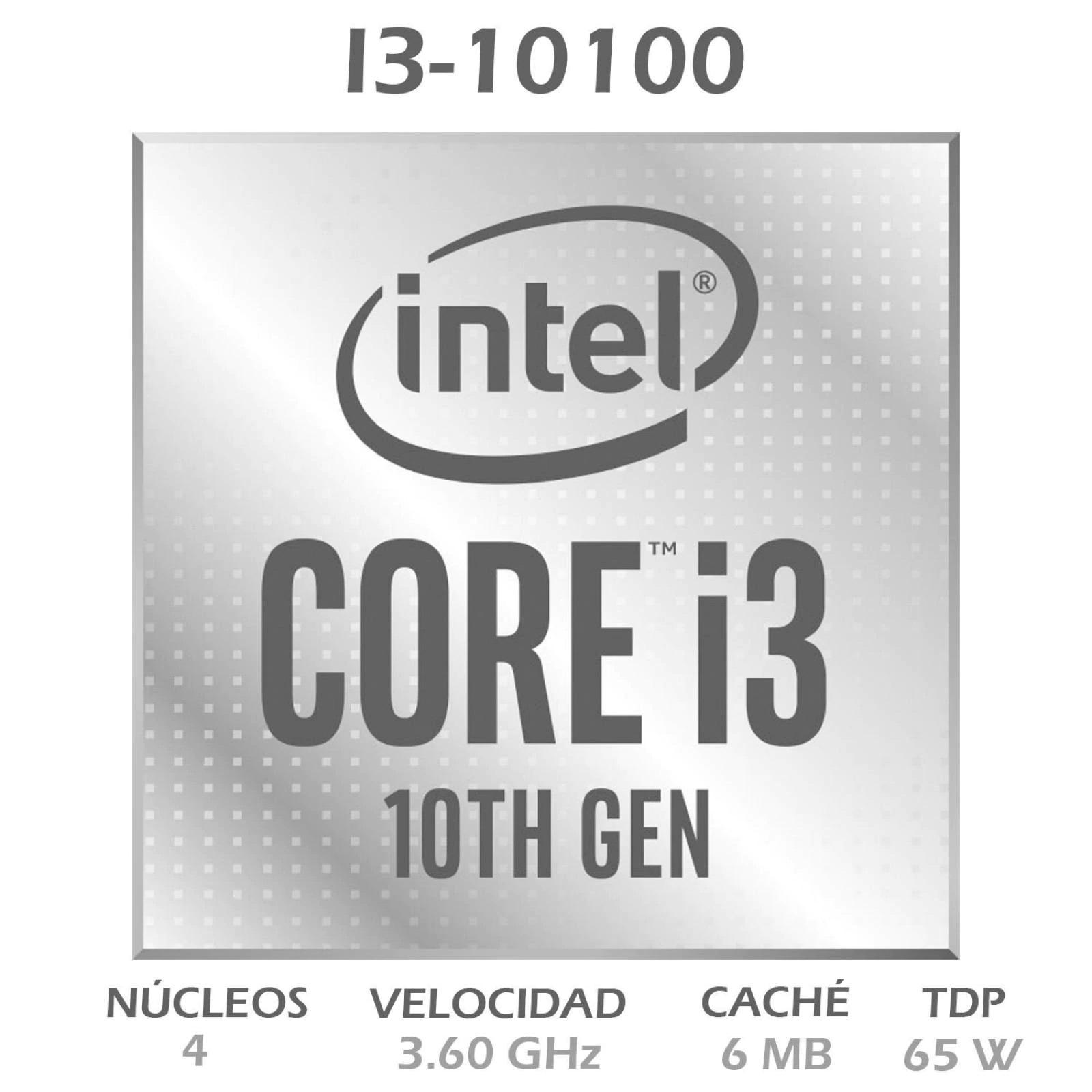 BX8070110100 INTEL                                                        | PROCESADOR INTEL CORE I3 10100 DE 4 NÚCLEOS Y 3.6GHZ CON GPU